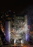 Toronto New Years Eve Fireworks 2012 Royalty Free Stock Images