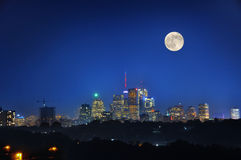 Toronto Night. The night scene with downtown Toronto as background royalty free stock photography