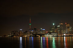 Toronto At Night Stock Photo