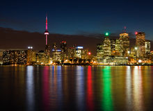 Toronto at night, Canada Royalty Free Stock Photo