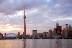 Toronto no por do sol Fotografia de Stock Royalty Free