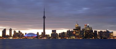 Toronto Nocturnal Skyline Royalty Free Stock Images