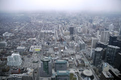 Toronto North. Aerial view of Toronto's north side with all building logos removed Royalty Free Stock Photo