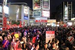 Toronto Nuit Blanche folkmassa Arkivbild
