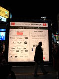 Toronto Nuit Blanche Sponsors Board Royalty Free Stock Photos