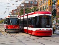 Toronto nya spårvagnar Royaltyfri Foto