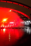 TORONTO - OCTOBER 1, 2016: PNEUMA, Floria Sigismondi, Nathan Phillips Square during the Nuit Blanche festival Royalty Free Stock Photos
