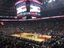 Toronto Raptors at Scotiabank Arena. TORONTO, ON - OCTOBER 19: Toronto Raptors vs Boston Celtics NBA regular season game at Scotiabank Arena on October 19, 2018 stock photos