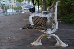Toronto offentlig bänk fotografering för bildbyråer