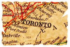 Toronto old map Stock Photography