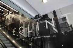 Toronto, Ontario, Canadá 20 de abril de 2018: Yonge nuevamente construido y E fotos de archivo