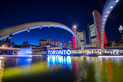 Toronto Ontario Canada. Amazing city center of Toronto by night Ontario Canada royalty free stock photos