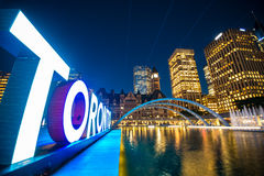 Toronto Ontario Canada. Toronto downtown by night Royalty Free Stock Photos