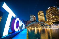 Toronto Ontario Canada. Toronto downtown by night Royalty Free Stock Photos