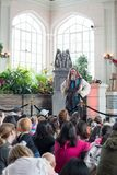 Toronto, Ontario Canada 13 Maart 2018: Veronderstel Dragon March Break in Casa Loma Ridder School bij een kasteel stock fotografie