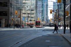 TORONTO, ONTARIO, KANADA - 23. M?rz 2019 - ?ffentliches Verkehrsmittel Torontos TTC - ?ffentlicher Transport im im Stadtzentrum g lizenzfreie stockbilder