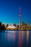 Toronto Ontario at night   Canada150 Stock Photography