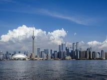 Toronto Ontario pejzaż miejski od Centre wyspy zdjęcia royalty free