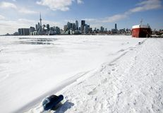 Toronto Ontario from Polson Pier Royalty Free Stock Image