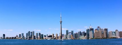 Toronto, Ontario. Skyline of the city and CN Tower Stock Photo