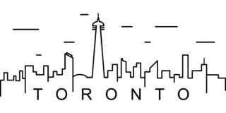 Toronto outline icon. Can be used for web, logo, mobile app, UI, UX vector illustration