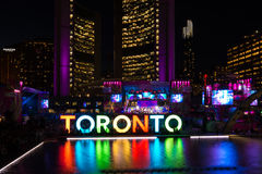 Toronto: Panamania i Nathan Phillips Square under Pan Am Games Arkivbilder