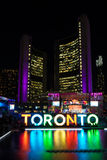 Toronto: Panamania i Nathan Phillips Square under Pan Am Games Royaltyfri Foto