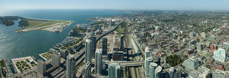 Toronto-Panorama Lizenzfreie Stockbilder