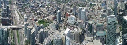 Toronto panorama. Aerial view of Downtown Area of Toronto, Canada royalty free stock photo