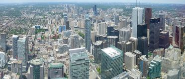Toronto panorama. Aerial view of Downtown Area of Toronto, Canada royalty free stock image