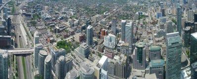 Toronto panorama. Aerial view of Downtown Area of Toronto, Canada stock photos
