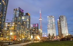 Toronto panorama,Canada. Toronto downtown skyline at evening Royalty Free Stock Photos