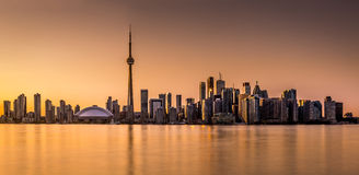 Toronto panorama at sunset Stock Image