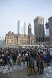 Toronto people meets in a vigil Royalty Free Stock Photography