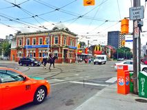 Toronto police on a horse Stock Photos
