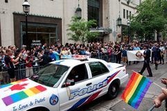 Toronto Police at Toronto Pride Parade 2009 Royalty Free Stock Photo