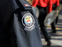 Toronto Police Uniform. A Toronto Police Auxiliary uniform during a street parade royalty free stock image