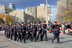 Toronto Policemen at Christmas Parade in Toronto Royalty Free Stock Image