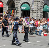 Toronto Policemen at Pride Parade in Toronto Royalty Free Stock Photography