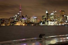 Toronto Polson Pier Winter Night Royalty Free Stock Images