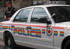 Toronto Pride 2011 Parade Police Car Stock Images