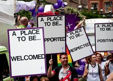 Toronto Pride Parade Banners Stock Image