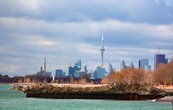 Toronto przyglądający zachód Obrazy Stock