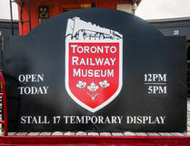 Toronto Railway Museum sign Stock Image