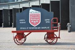 Toronto Railway Museum sign Stock Photo