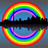 Toronto with rainbow Royalty Free Stock Images