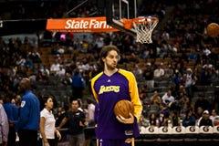 Toronto Rapters contra Los Ángeles Lakers Fotografía de archivo