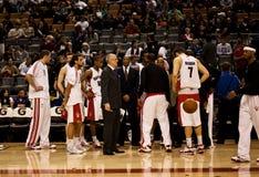 Toronto Rapters contra Los Ángeles Lakers Imagen de archivo
