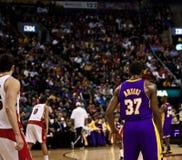 Toronto Rapters contra Los Ángeles Lakers Fotos de archivo