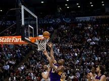 Toronto Rapters contra Los Ángeles Lakers Fotografía de archivo libre de regalías